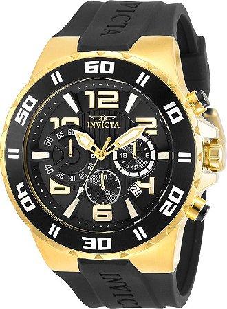 Relógio Invicta Pro Diver 30939 Cronografo 48mm Banhado Ouro 18k W/R 100m