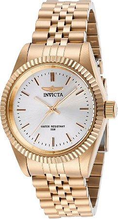 Relógio Invicta Angel Collection 29413 Feminino 36mm Banhado Ouro Rose