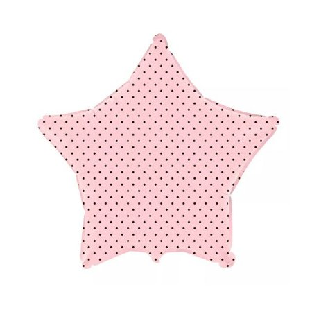 Balão Metalizado Estrela Poá