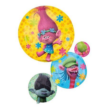 Balão Metalizado Trolls