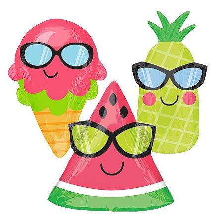 Balões de Frutas/Sorvete Cool