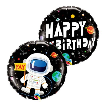 Balão Metalizado Astronauta Happy Birthday