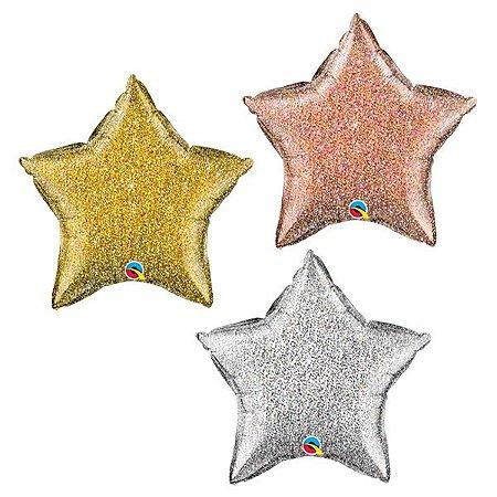 Balão Metalizado Estrela Holográfica
