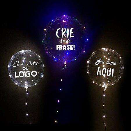 Bubble + Led + Adesivo Personalizado
