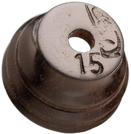Pio 15 em Madeira Exótica de Reaproveitamento - Ave Jaó ou Zabelê - Tipo tambor (Por Inspiração)