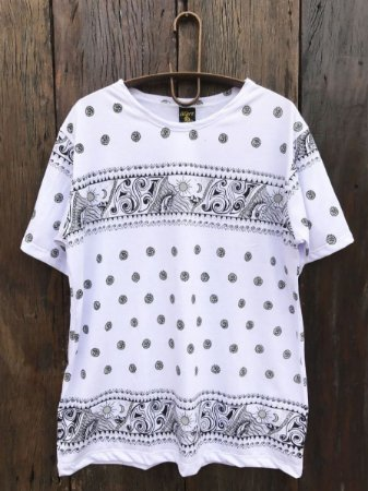 Camiseta Indiana Masculina Ondas Cinza