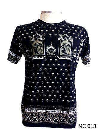 Camiseta Indiana Masculina Egito Preta