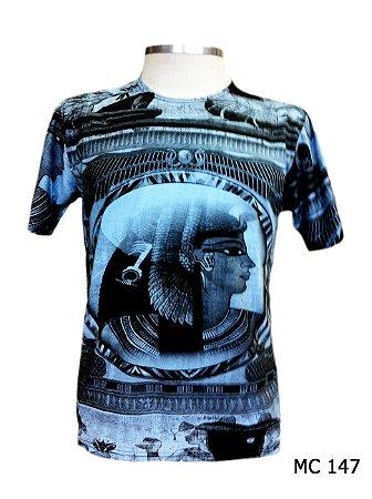 Camiseta Indiana Masculina Cleópatra Azul