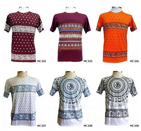 Lote/Kit 20 Camisetas Indianas Masculinas Atacado - Várias Estampas
