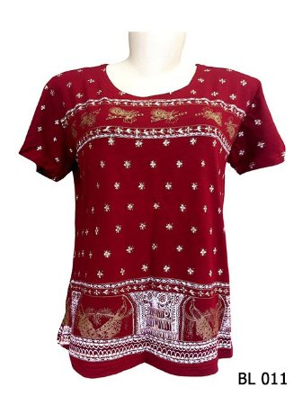 Camiseta Indiana Feminina Estampada Vermelha