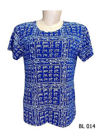 Camiseta Indiana Feminina Sânscrito Azul