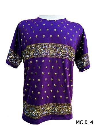 Camiseta Indiana Masculina Mandalas Roxa