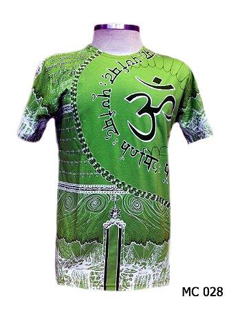 Camiseta Indiana Masculina Mantra Om Verde