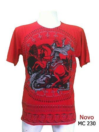Camiseta Indiana Masculina São Jorge Vermelha