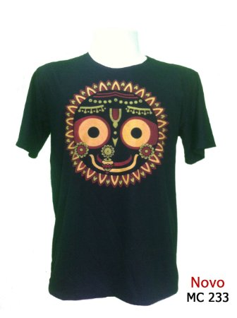 Camiseta Indiana Masculina Jagannatha Preta