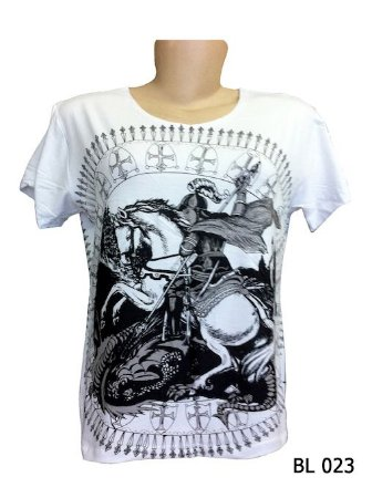 Camiseta Indiana Feminina São Jorge Branca