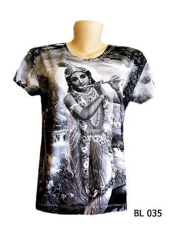 Camiseta Indiana Feminina Krishna Branca