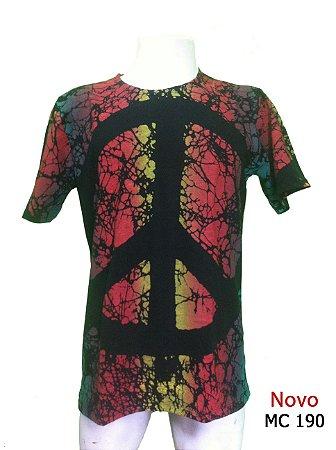 12dd91fcaa Camiseta Indiana Masculina Tie-Dye Paz e Amor Preta - Universo ...