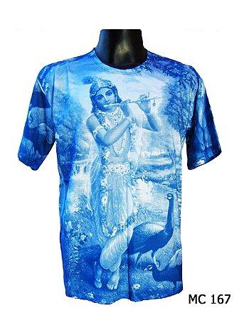 Camiseta Indiana Masculina Lakshmi e o Pavão