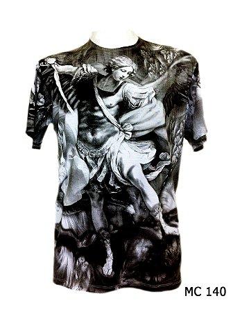 Camiseta Indiana Masculina Arcanjo Cinza
