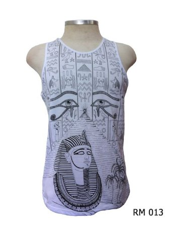 Regata Indiana Masculina Egito Olho de Hórus Branca