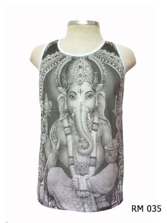 Regata Indiana Masculina Ganesha Cinza