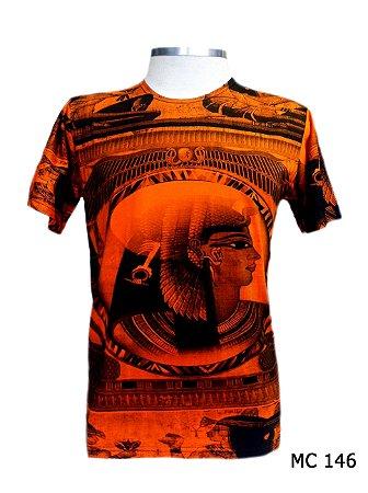 Camiseta Indiana Masculina Cleópatra Laranja