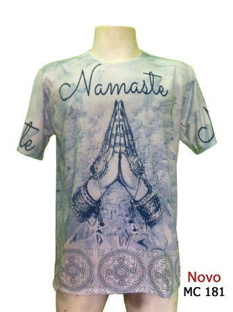 Camiseta Indiana Masculina Namastê Azul