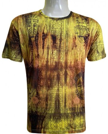 Camiseta Indiana Unissex Máscaras Amarela