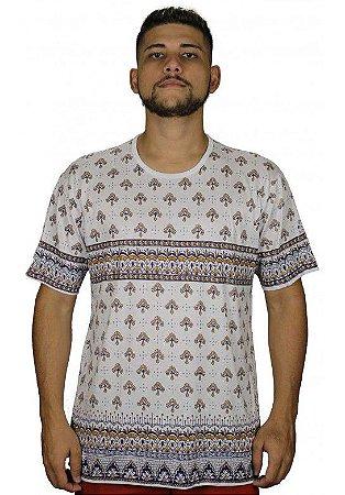 Camiseta Indiana Unissex Lírio Branca