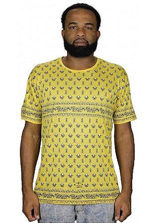 Camiseta Indiana Unissex Pé de Galinha Amarela
