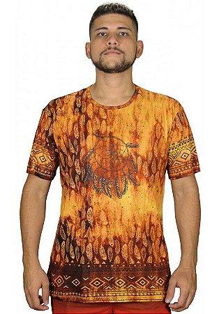 Camiseta Indiana Unissex Filtro dos Sonhos Laranja