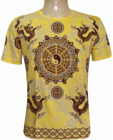 Camiseta Indiana Unissex Yin-Yang Amarela