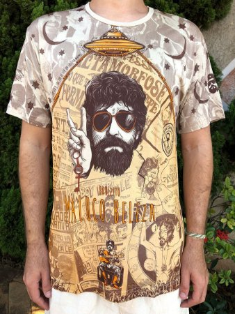 Camiseta Indiana Unissex Raul Seixas Maluco Beleza
