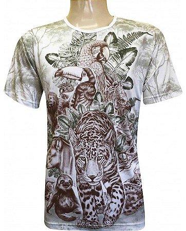Camiseta Indiana Unissex Xamânica Natureza