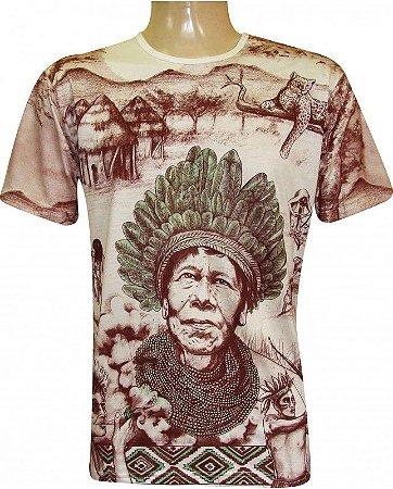 Camiseta Indiana Unissex Xamânica Pajé
