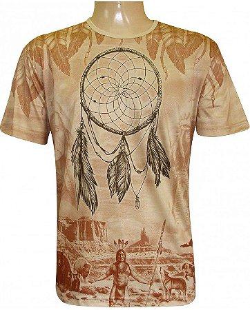Camiseta Indiana Unissex Xamânica Filtro dos Sonhos Xamã Americano
