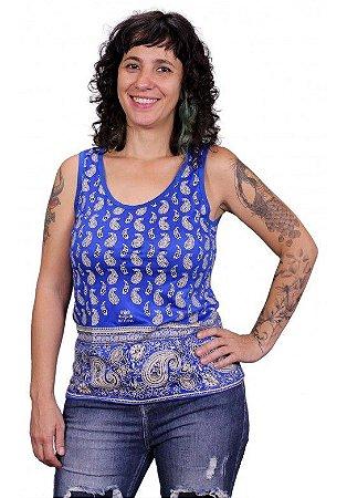 Regata Indiana Feminina Shanti Azul