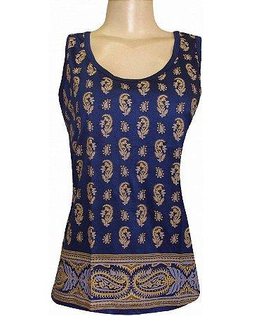 Regata Indiana Feminina Shanti Azul Marinho