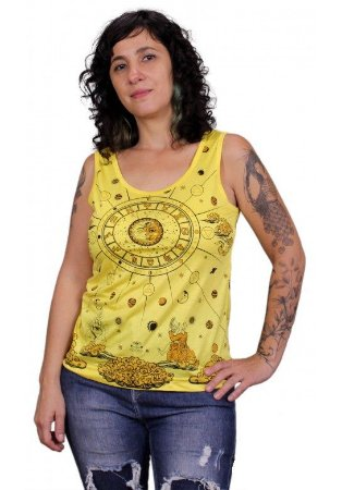 Regata Indiana Feminina Zodíaco Amarela