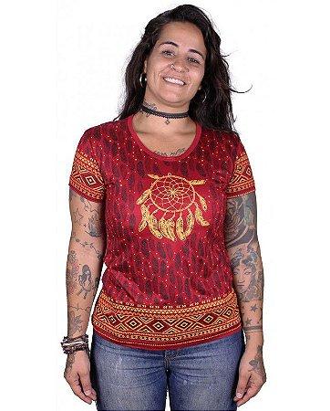 Baby Look Indiana Feminina Filtro dos Sonhos Vermelha