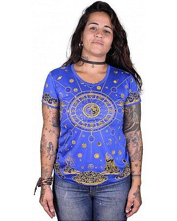 Baby Look Indiana Feminina Zodíaco Azul