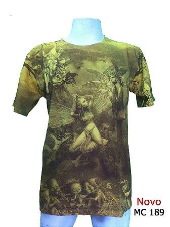Camiseta Indiana Masculina Fada Amarela