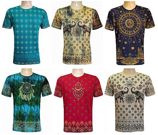 Kit 10 Camisetas Indianas Unissex Tradicionais Sortidas