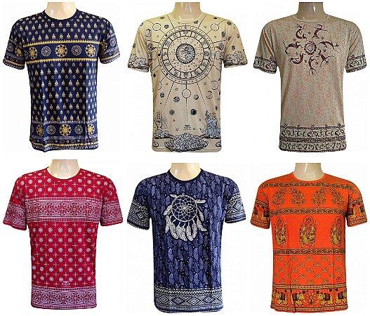 Kit/Lote 20 Camisetas Indianas Unissex Tradicionais Sortidas
