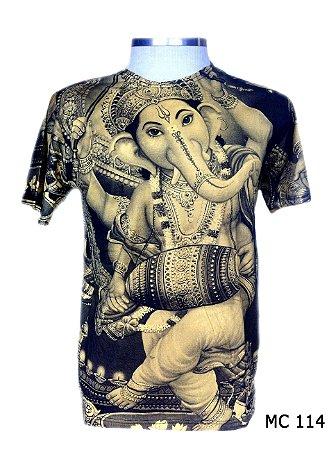 Camiseta Indiana Masculina Ganesha Amarela
