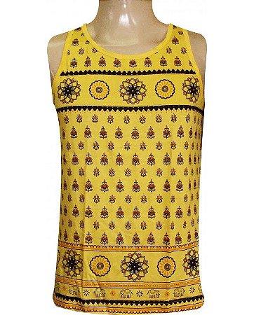 Regata Indiana Masculina Mandala Amarela