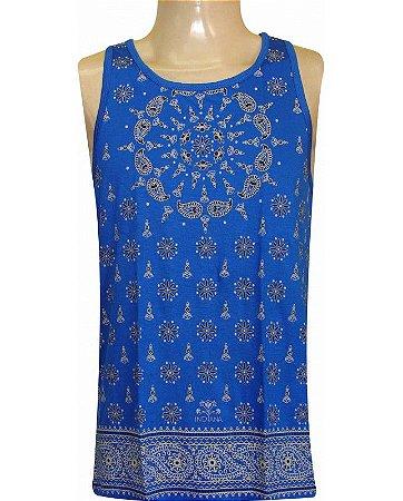 Regata Indiana Masculina Mandala Azul