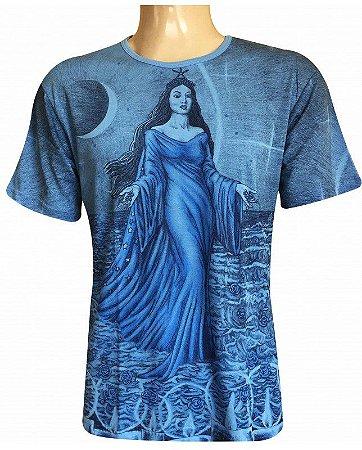 Camiseta Indiana Unissex Iemanjá Azul