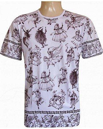 Camiseta Indiana Unissex Orixás Branca